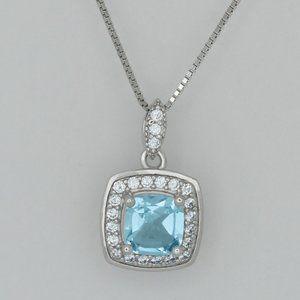 Jewelry - Genuine Topaz Sterling Silver Necklace
